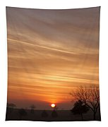 Foggy Sunrise Tapestry