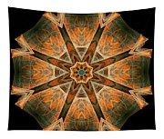 Folded 8-pointed Kaleidoscope Image Tapestry
