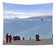 Following The Footsteps Of  Roald Amundsen.. Tapestry