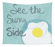 Food- Kitchen Art- Eggs- Sunny Side Up Tapestry