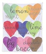 Foodie Love Tapestry