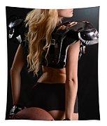 Football Girl Tapestry