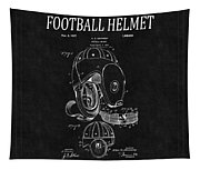 Football Helmet Patent 4 Tapestry