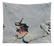 Footprint In The Sand Tapestry