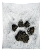 Footprint Series. Cat Tapestry
