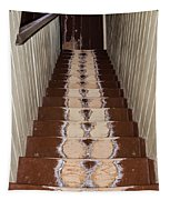 Footsteps On Wooden Stairs Tapestry