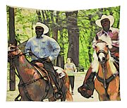 Forbidden Drive Cowboys Tapestry