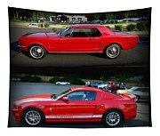 Ford Mustang Old Or New Tapestry