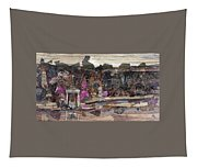 Forest Behind Temples  Tapestry