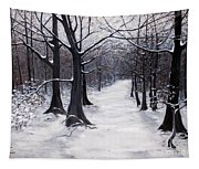 Forest Path In Winter Tapestry