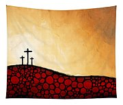 Forgiven - Christian Art By Sharon Cummings Tapestry