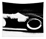 Formula 1 Racer In Action Tapestry
