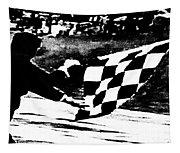 Formula 1 Vintage Checkered Flag Tapestry