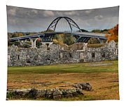 Fort Crown Point Panorama Tapestry