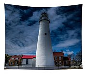 Fort Gratiot Lighthouse From The Water Side Tapestry