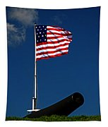 Fort Mchenry Flag And Cannon Tapestry