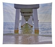 Fort Myers Beach Pier Tapestry