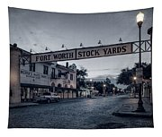 Fort Worth Stockyards Bw Tapestry