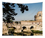 Fortress And Bridge Tapestry