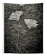 Fossilized Flowers Tapestry