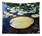 Foul Ball And The Lily Pads Tapestry
