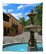 Fountain At Tlaquepaque Arts And Crafts Village Sedona Arizona Tapestry