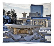 Fountain In Repose Tapestry