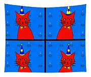 Four Cats Tapestry