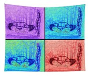 Four Crabs Under The Sea Tapestry