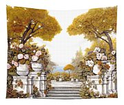 four seasons-autumn on lake Maggiore Tapestry