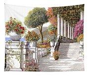 four seasons-summer on lake Como Tapestry