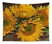 Four Sunflowers Tapestry