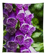 Foxgloves Textured Tapestry
