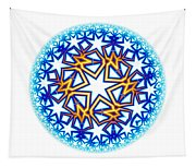 Fractal Escheresque Winter Mandala 2 Tapestry