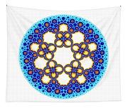Fractal Escher Winter Mandala 3 Tapestry