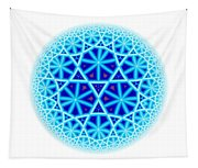 Fractal Escheresque Winter Mandala 4 Tapestry