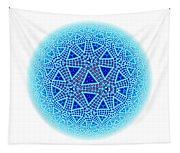 Fractal Escher Winter Mandala 5 Tapestry