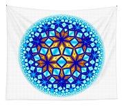 Fractal Escheresque Winter Mandala 7 Tapestry