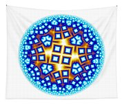 Fractal Escheresque Winter Mandala 9 Tapestry