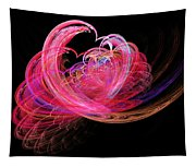 Fractal - Heart - Lets Be Friends Tapestry