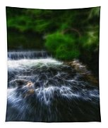 Fractalius - River Wye Waterfall - In Peak District - England Tapestry