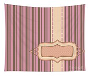 Frame With Ribbon Pinstripe Vector Tapestry