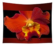 Framed Red Orchid  Tapestry