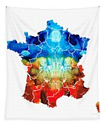 France - European Map By Sharon Cummings Tapestry