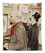 France Paris Poster Of Paul Verlaine And Jean Moreas Tapestry