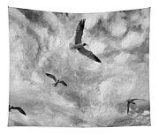 Freedom Impasto Bw Tapestry