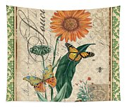 French Botanical Damask-a Tapestry