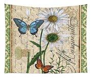 French Botanical Damask-d Tapestry