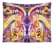 French Curve Abstract Movement V Magic Butterfly  Tapestry
