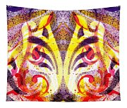 French Curve Abstract Movement Vi Mystic Flower Tapestry